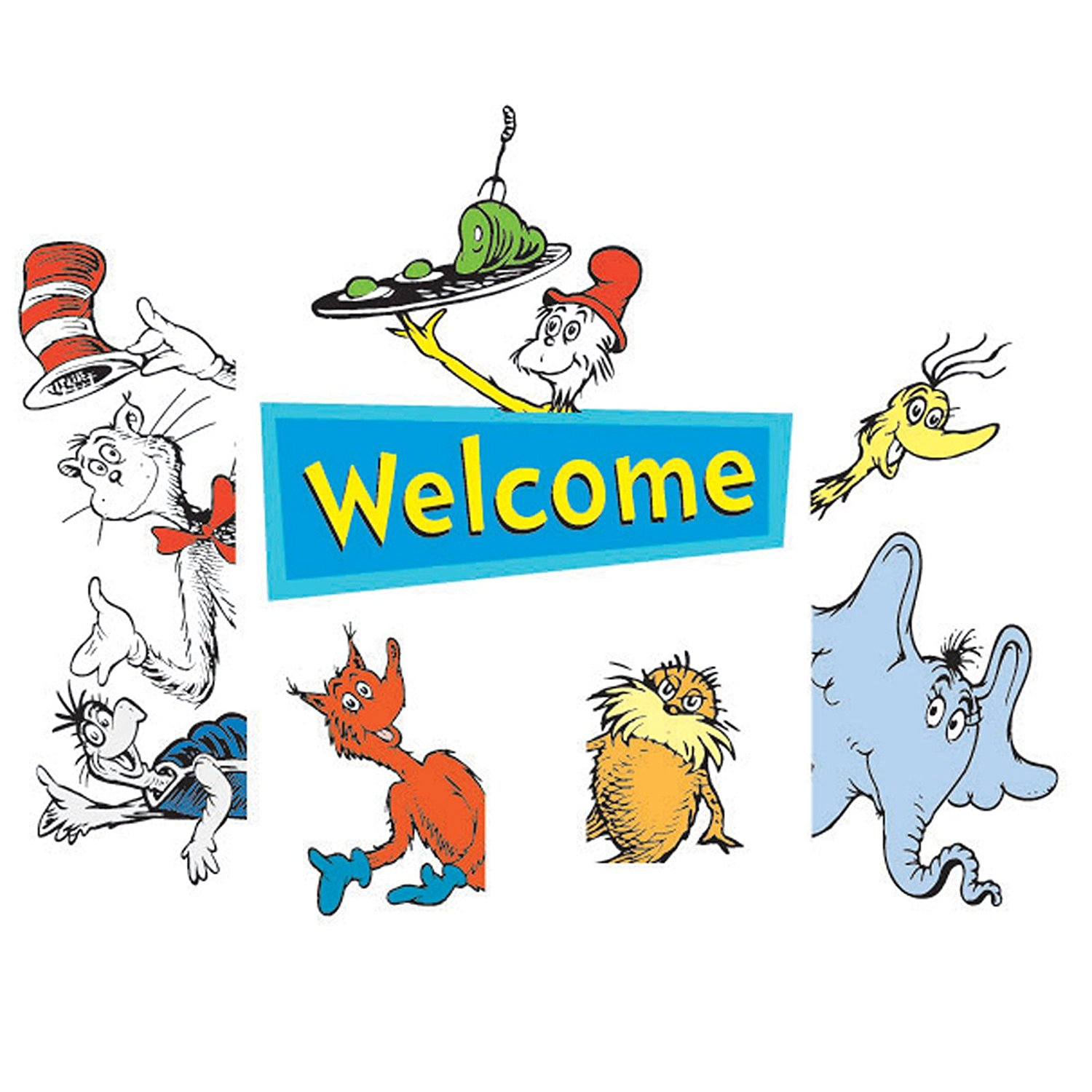 1500x1500 Eureka Cat In The Hat Welcome Go Around Decoration