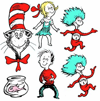 350x355 Eureka Large Dr. Seuss Characters Deco Kit (840226