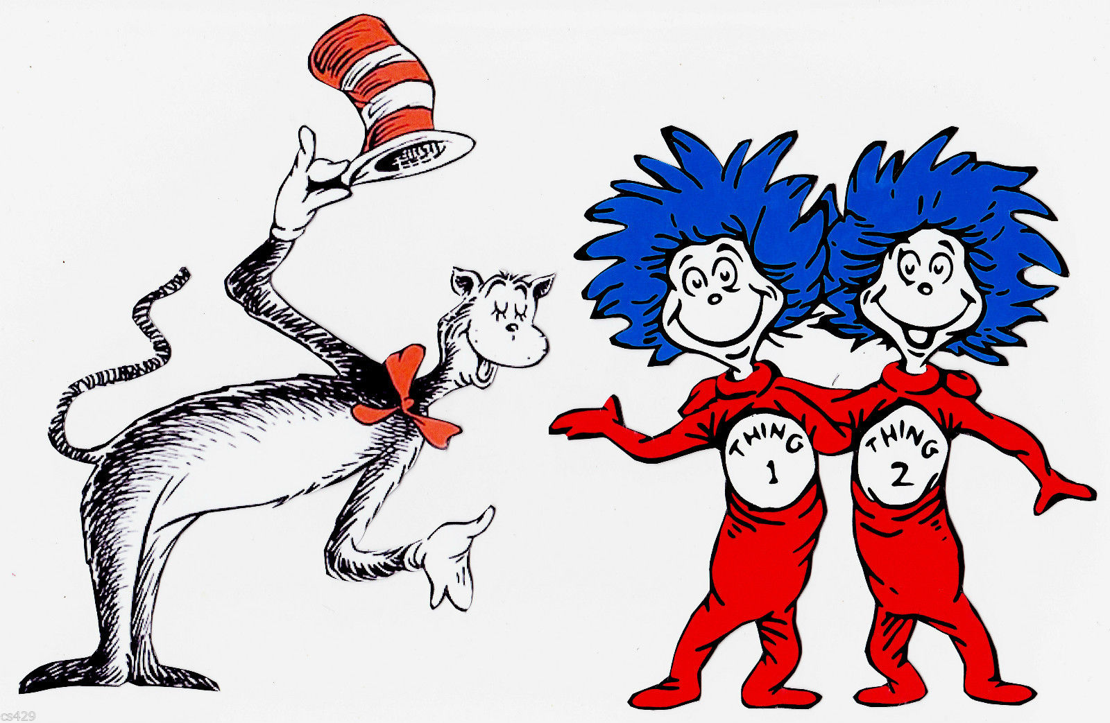 1600x1043 Cat In The Hat Characters Clipart Amp Cat In The Hat Characters Clip