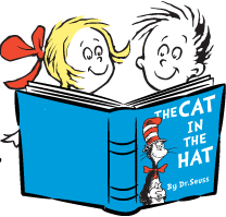 208x199 Dr Seuss Reading Clipart