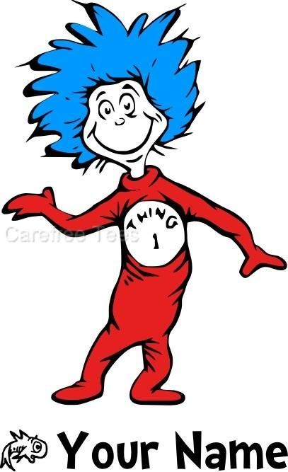 407x667 Thing 1 And Thing 2 Clip Art