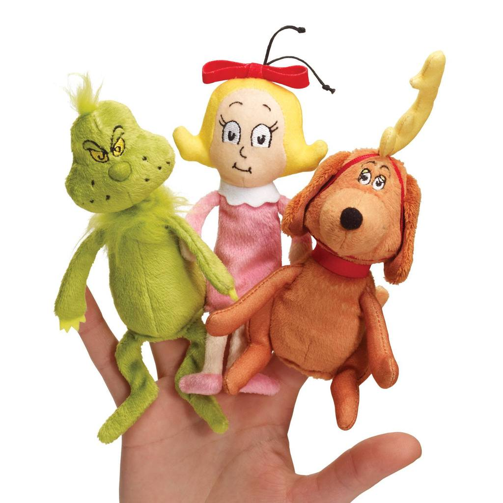 1024x1024 Dr. Seuss The Grinch Finger Puppet Set By Manhattan Toy