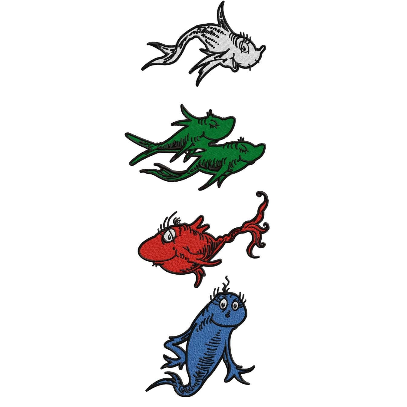 1344x1344 Dr Seuss Clipart One Fish Two Fish