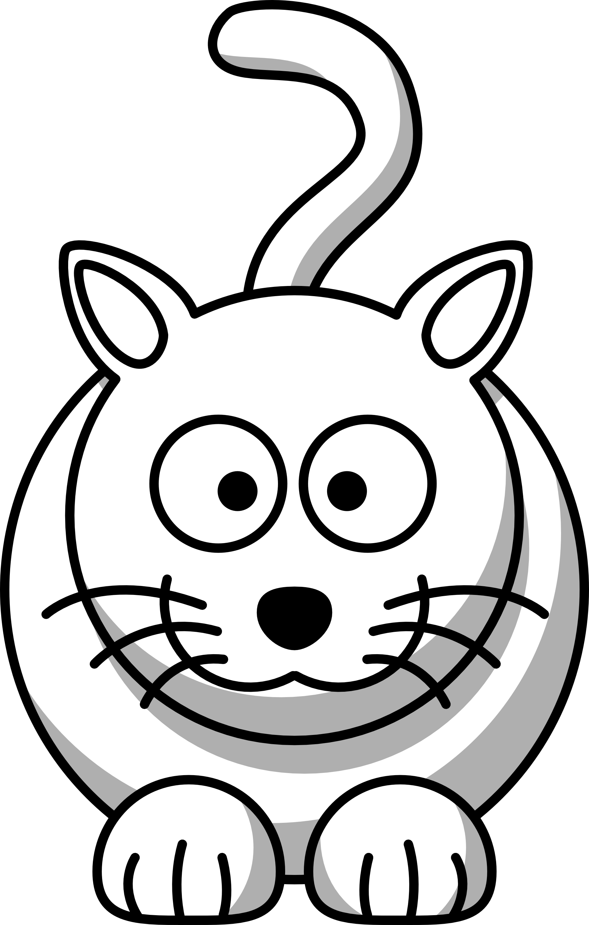 1979x3105 Cat Black And White Kitty Clipart Black And White Free Images
