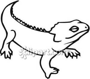 300x262 Lizard Clipart Black And White Clipart Panda