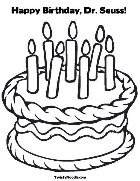 468x605 Dr Seuss Birthday Cake Clip Art