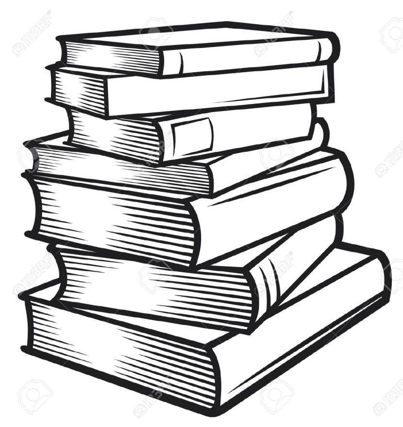 830x881 Book Clip Art Black And White