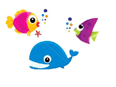 400x300 Image Of School Of Fish Clipart
