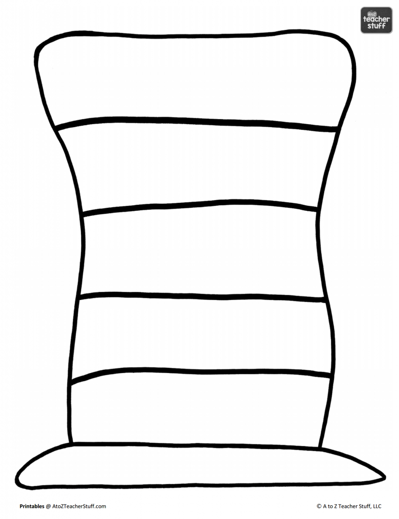 788x1024 Dr. Seuss Hat Coloring Pages With Striped Pattern Color Also