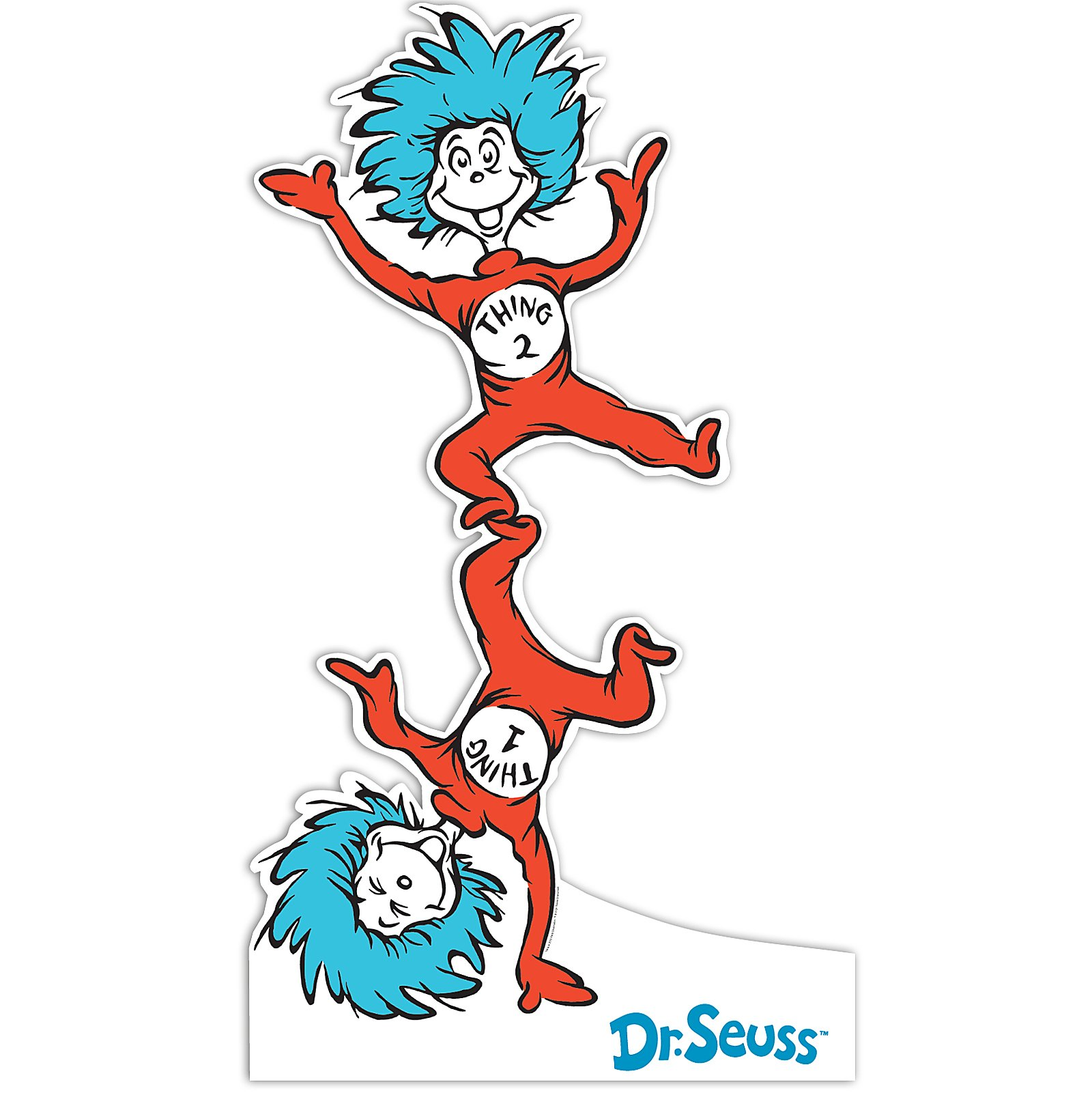 1600x1601 Buy Dr. Seuss Thing 1 And Thing 2 Standup