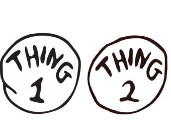 340x270 Thing 1 And Thing 2 Clip Art