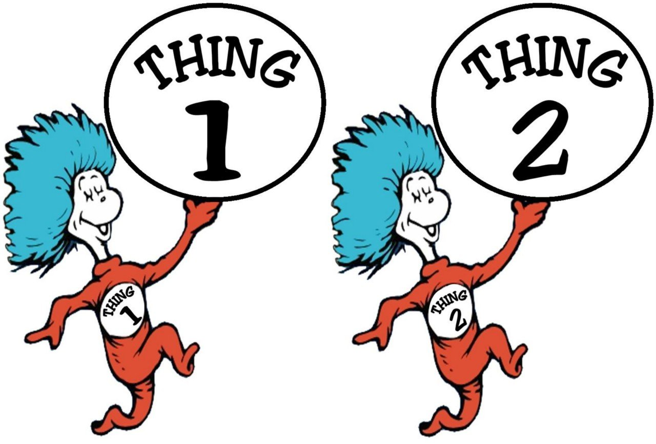 1280x866 Thing 1 And Thing 2 Clip Art