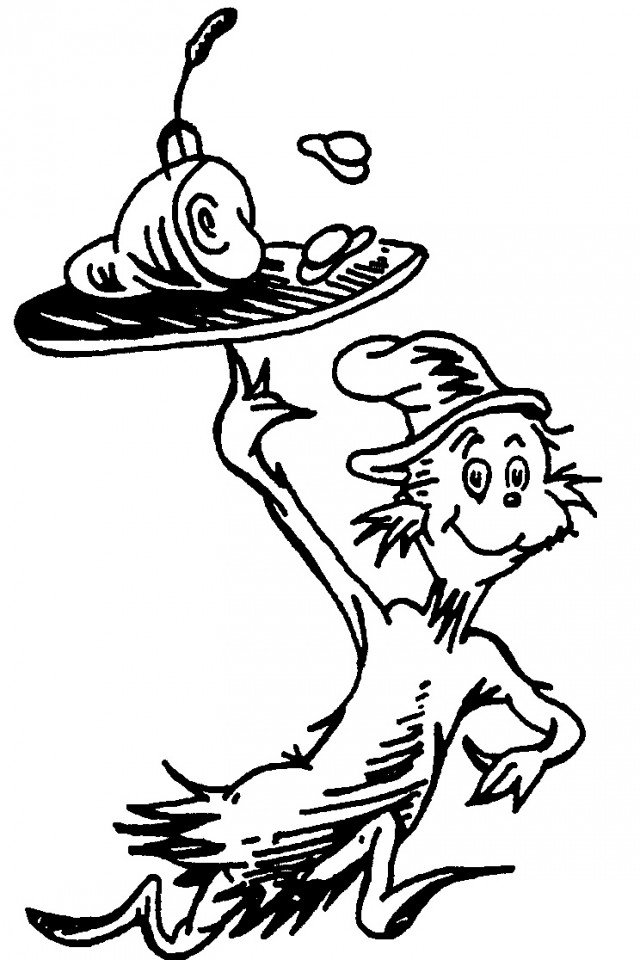 Dr Seuss Coloring Pages Thing 1 And Thing 2 | Free download best Dr ...