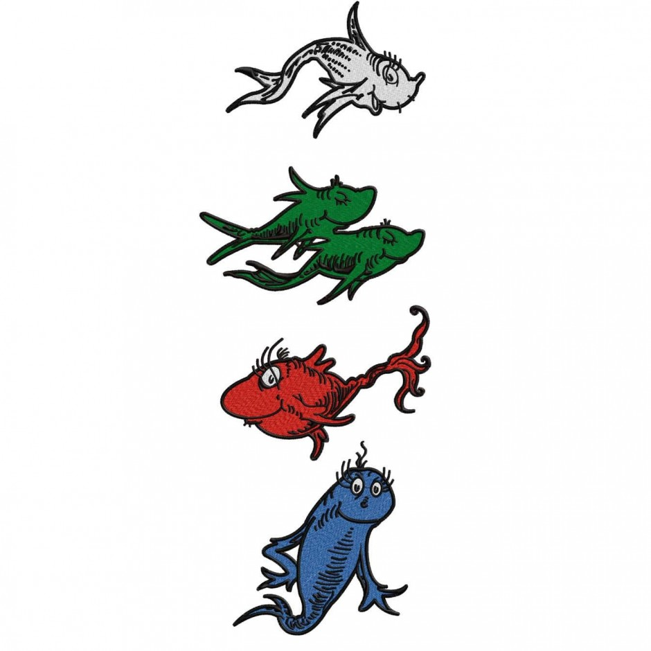 940x940 Dr Seuss Fish Coloring Page One Fish Two Fish Red Fish Blue Fish