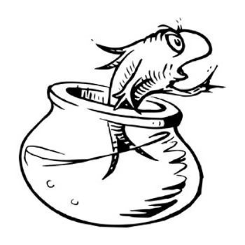 350x350 fish bowl coloring pages - Dr Seuss Coloring Pages