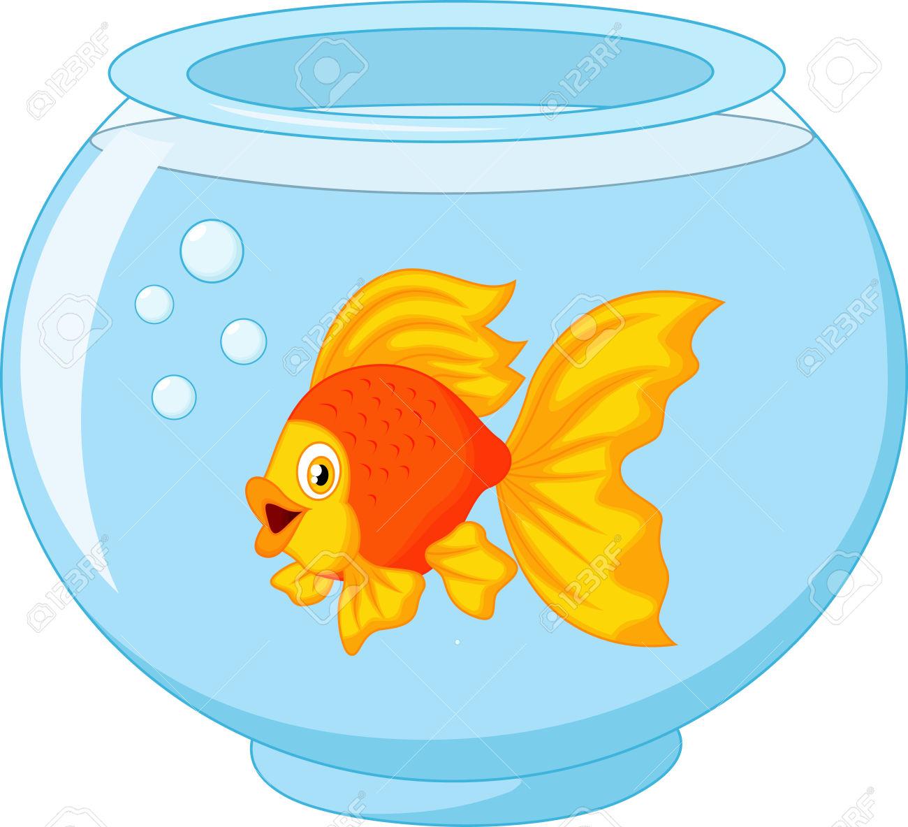 1300x1184 Gold Fish Bowl Clipart Clipartfest No