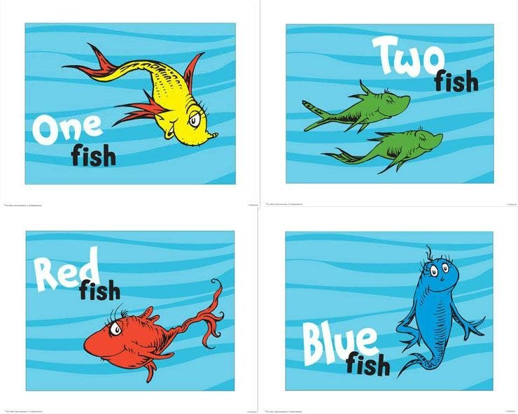 740x592 Dr Seuss Prints 1 Fish 2 Fish Red Fish Blue Fish