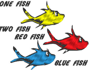 340x270 Dr. Seuss's One Fish Two Fish Clipart Panda