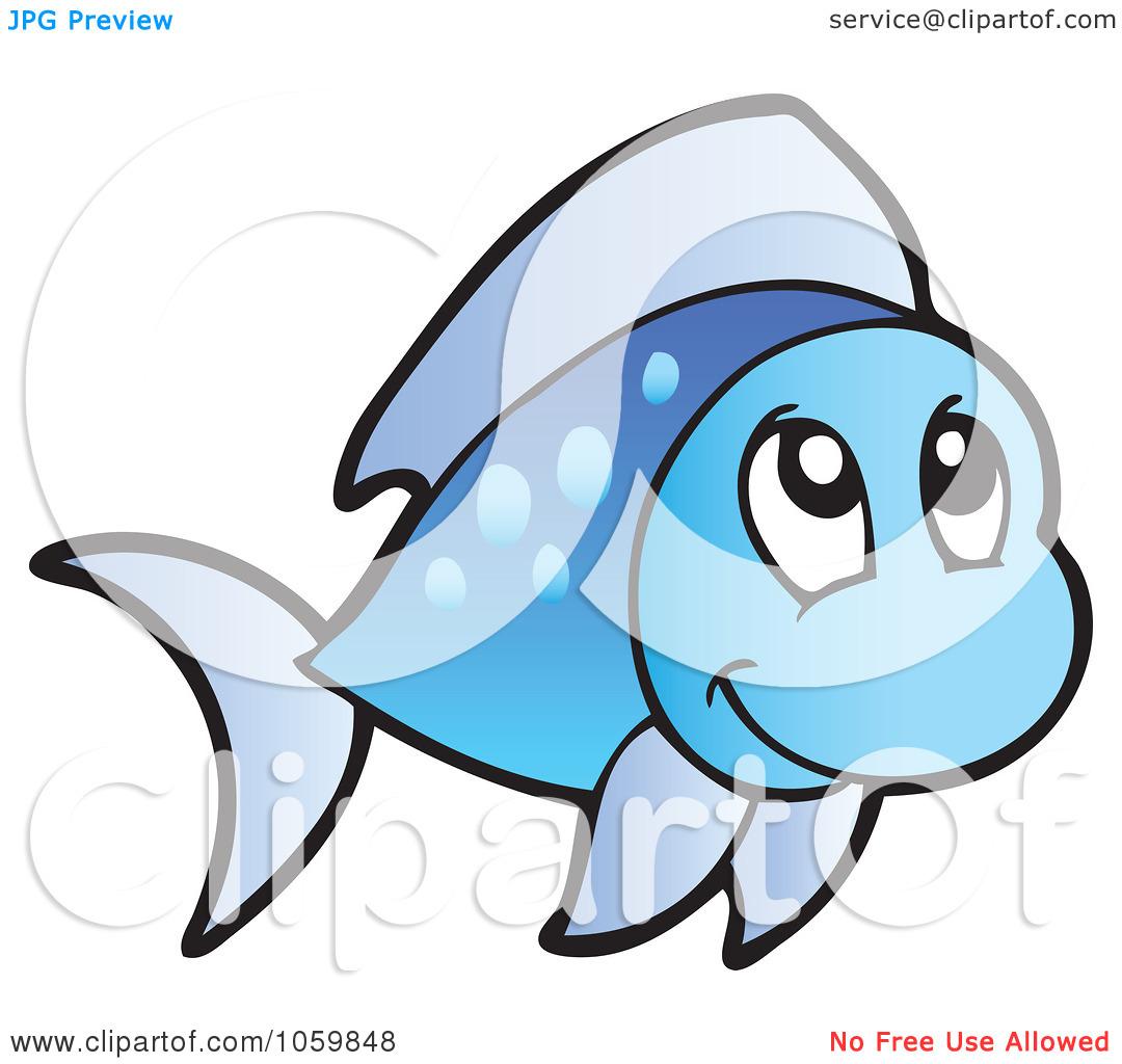 1080x1024 Cute Blue Fish Clipart