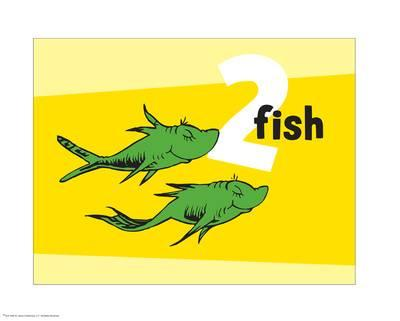 400x321 One Fish Two Fish Red Fish Blue Fish Posters