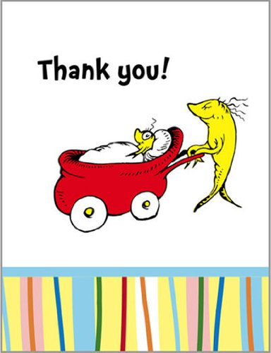 384x500 Baby Seuss Thank You Notes