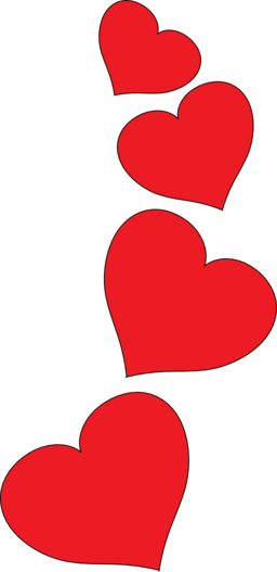 256x527 Hearts Clip Art Red Heart Free Clipart Images