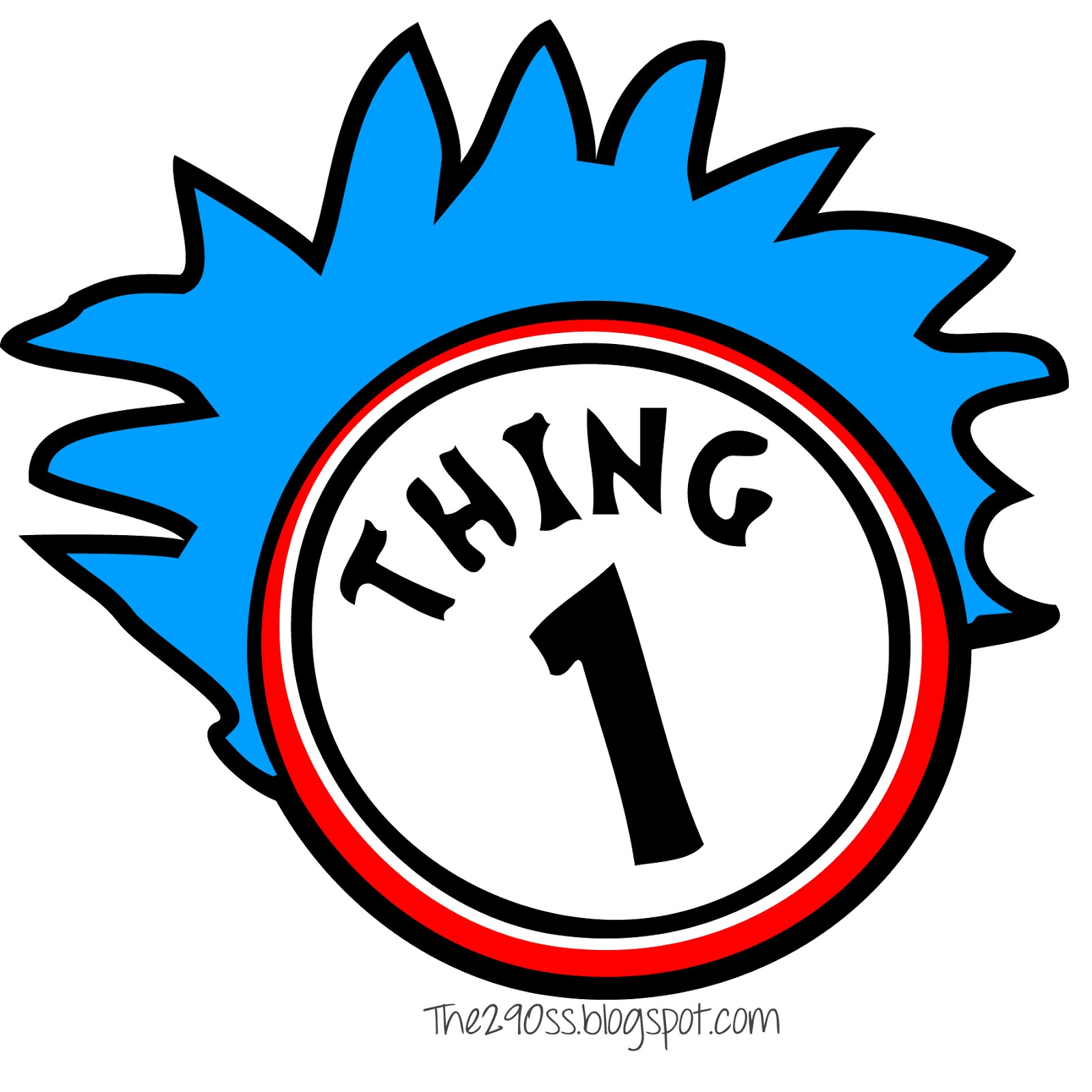 1600x1600 Thing 1 And 2 Shirts Clipart