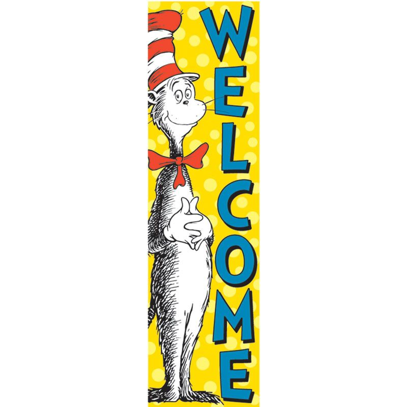 800x800 Dr. Cat In The Hat Welcome Vertical Banner