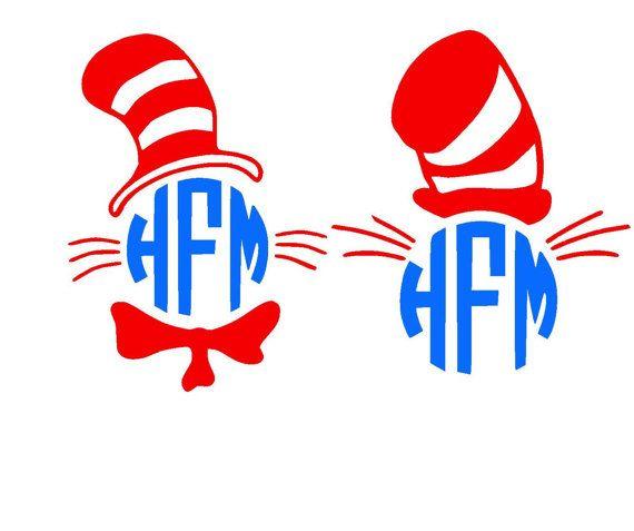 570x477 Cat Hat Monogram Svg Or Silhouette Digital Instant By Mandanoelle