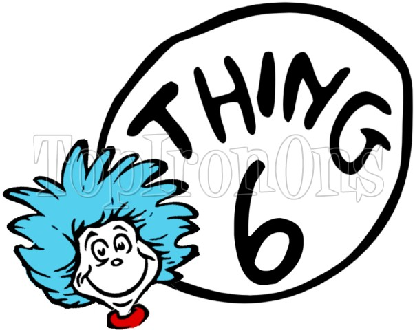 603x480 Dr. Seuss Cat In The Hat Thing 5 ~ T Shirt Iron On Transfer