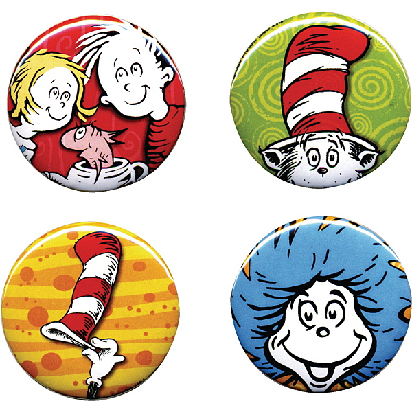 600x600 Dr. Cat In The Hat Buttons