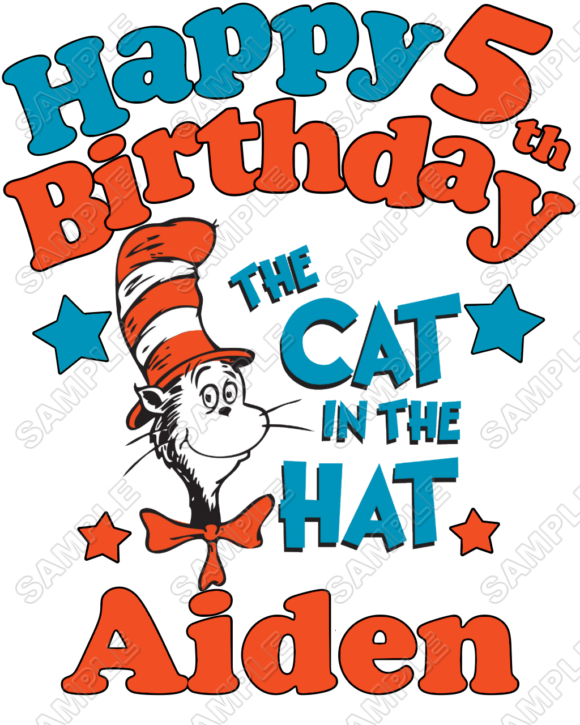 580x725 Dr.seuss Cat In The Hat Iron Ons