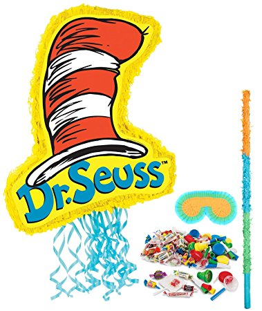 379x450 Dr Seuss Cat In The Hat Party Supplies Pinata Kit