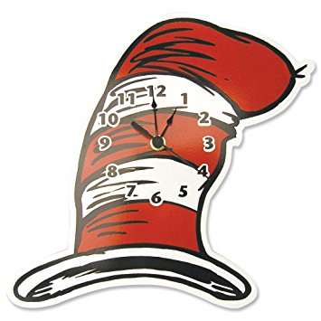 355x355 Trend Lab Dr. Seuss Wall Clock, Cat In The Hat Baby