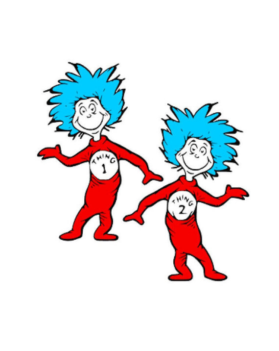 570x716 Dr Seuss Clipart Thing 1 And Thing 2