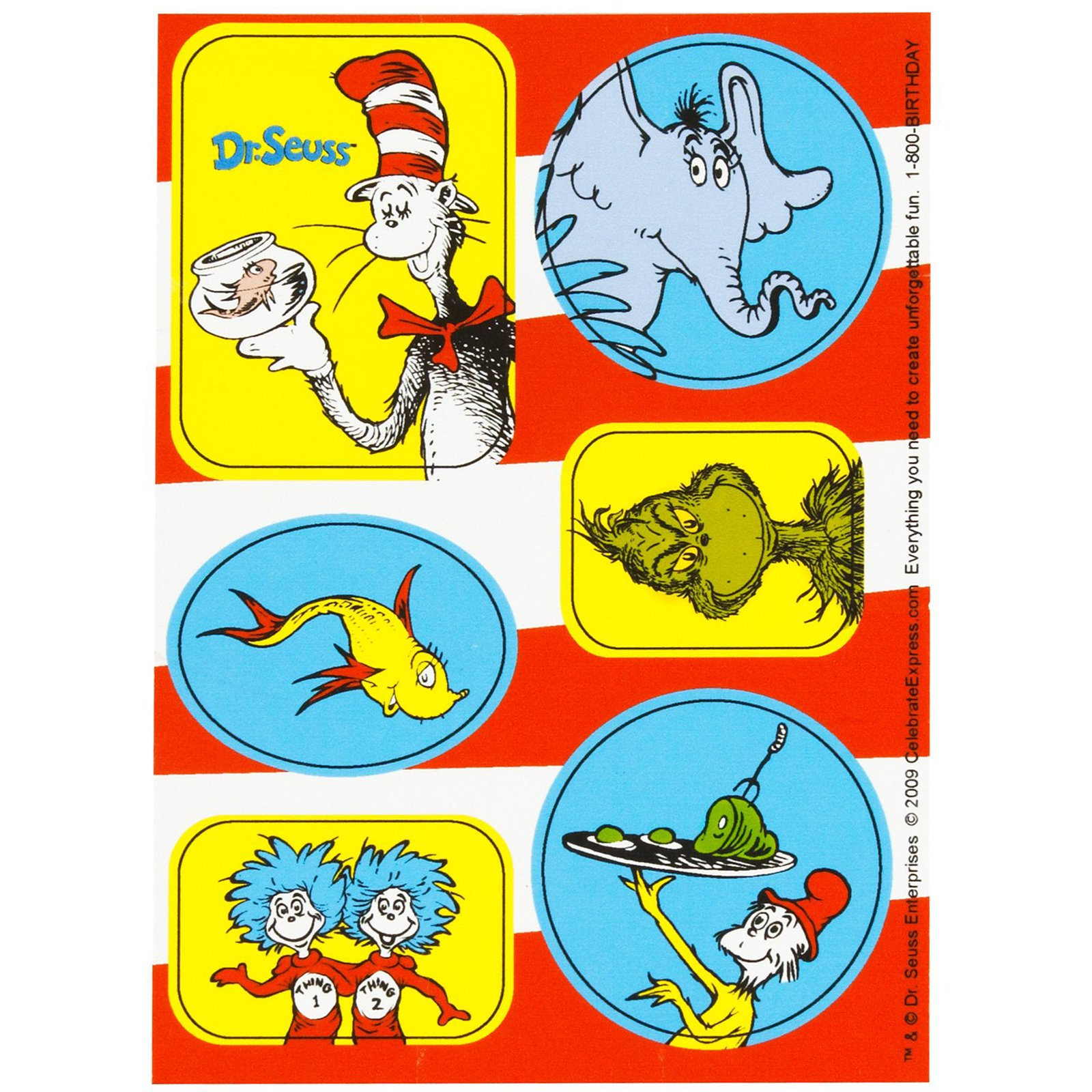 1600x1600 Dr. Seuss Sticker Sheets