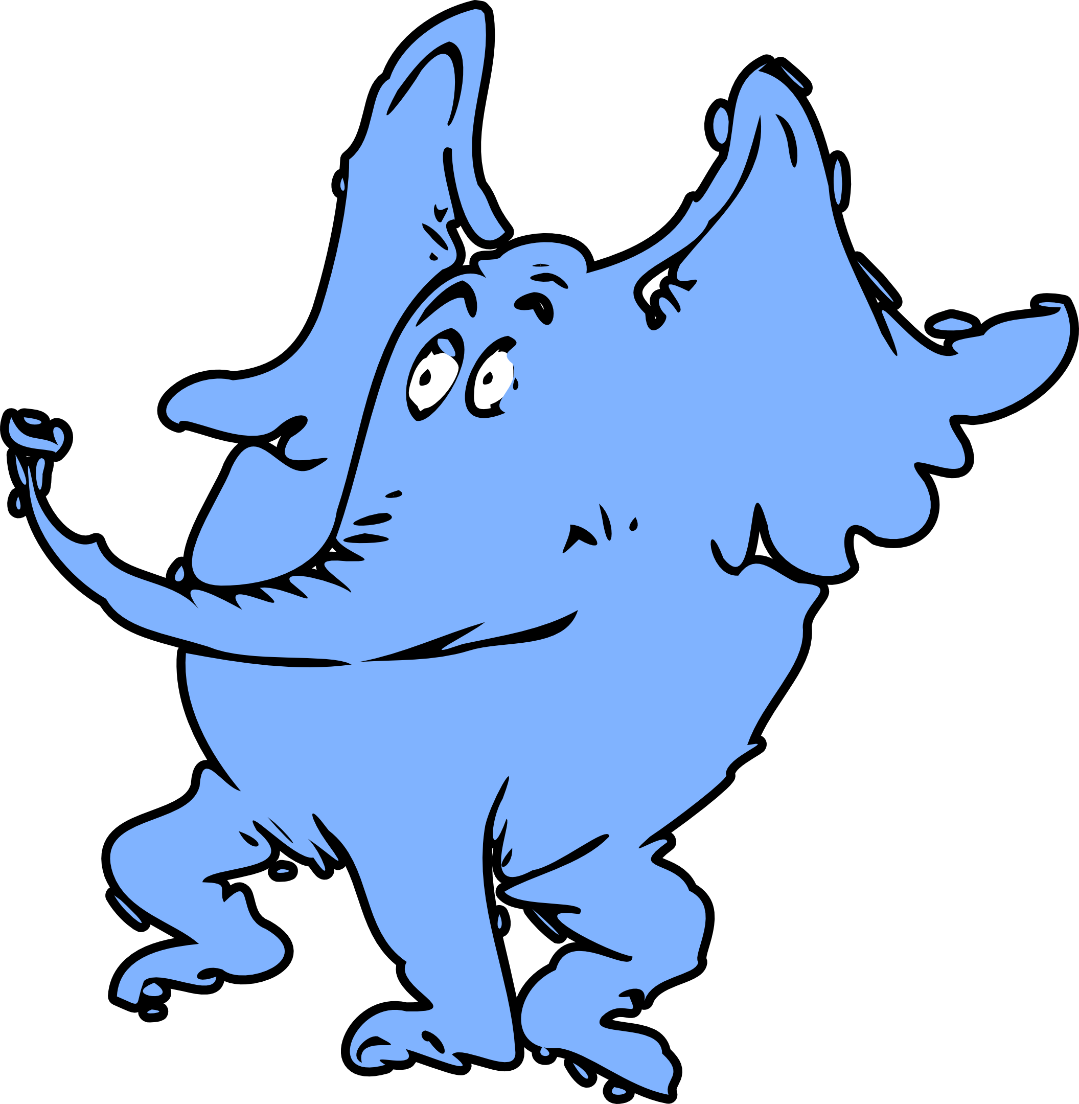 2111x2159 Wall Dr Seuss Horton The Elephant Character Kids Room Cartoon
