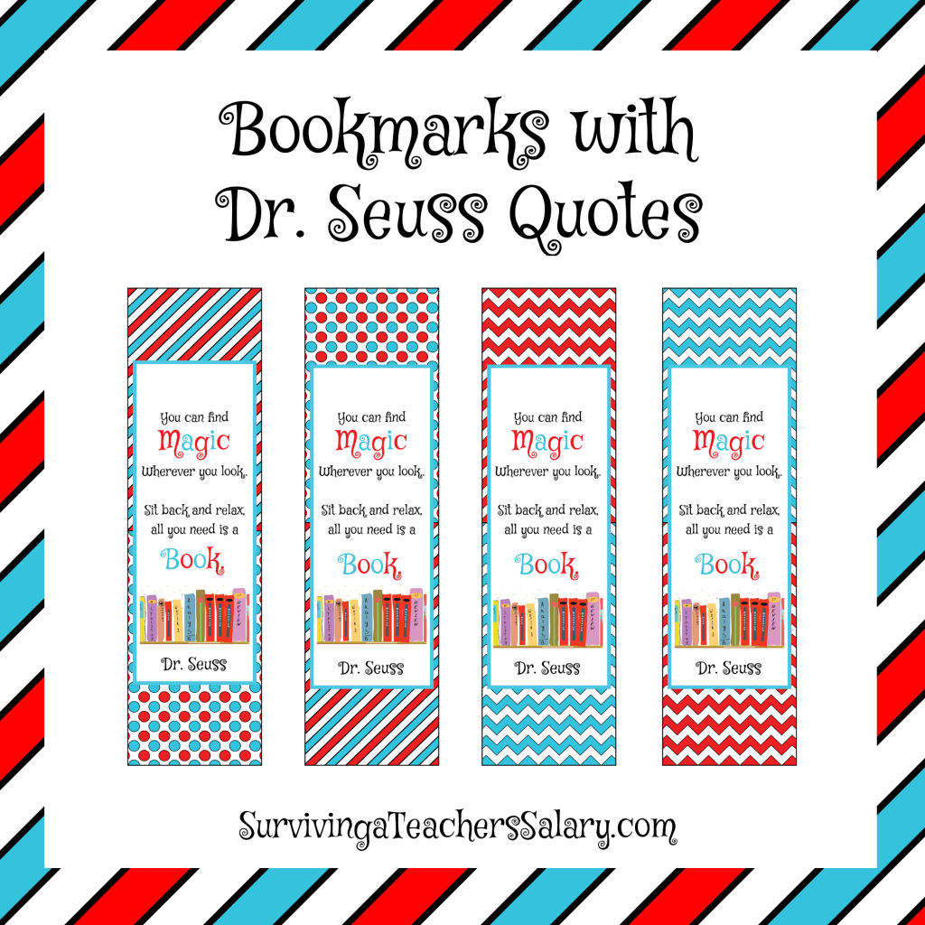 1024x1024 Dr. Seuss Printable Reading Log, Bookmarks, And Award