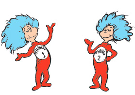 278x196 Thing 1 And Thing 2 Clipart