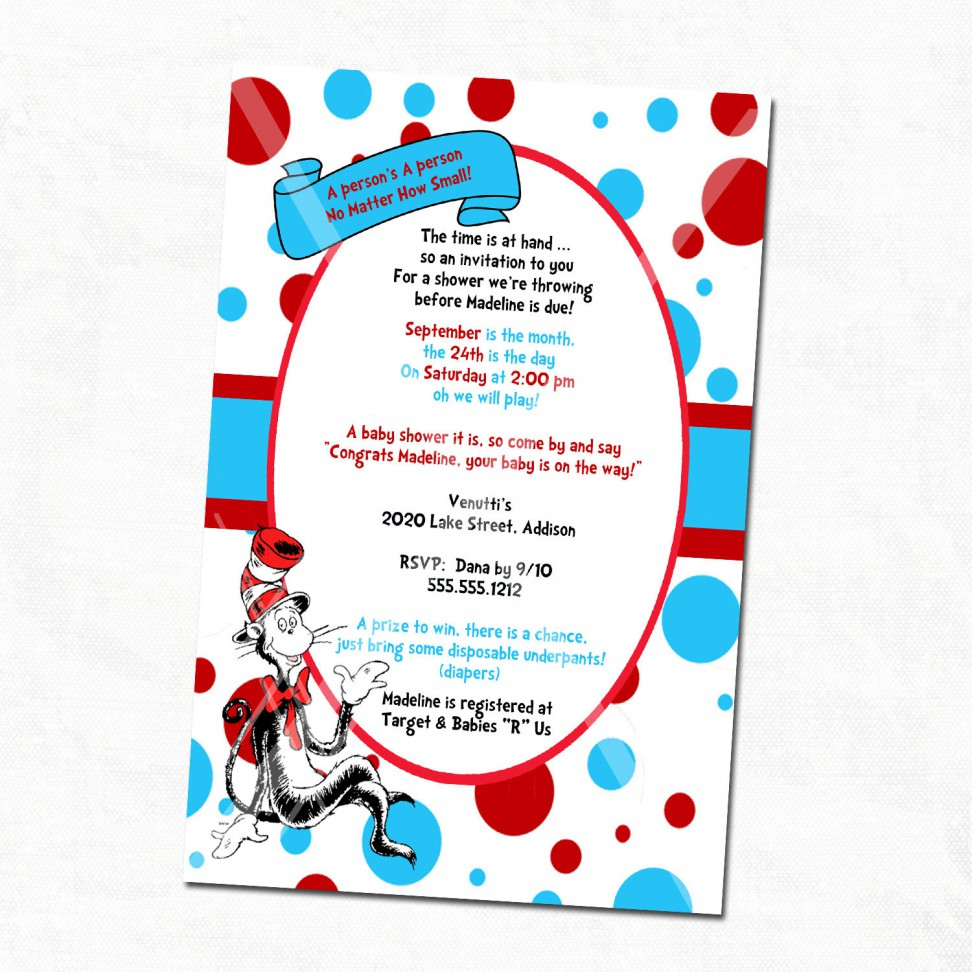 972x972 Dr Seuss Baby Shower Invitations Printable Free Dr Seuss Baby