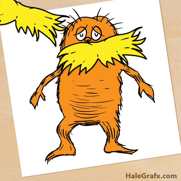 600x600 Free Printable Pin The Mustache On Lorax