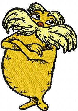 264x375 Dr Seuss Lorax Machine Embroidery Design