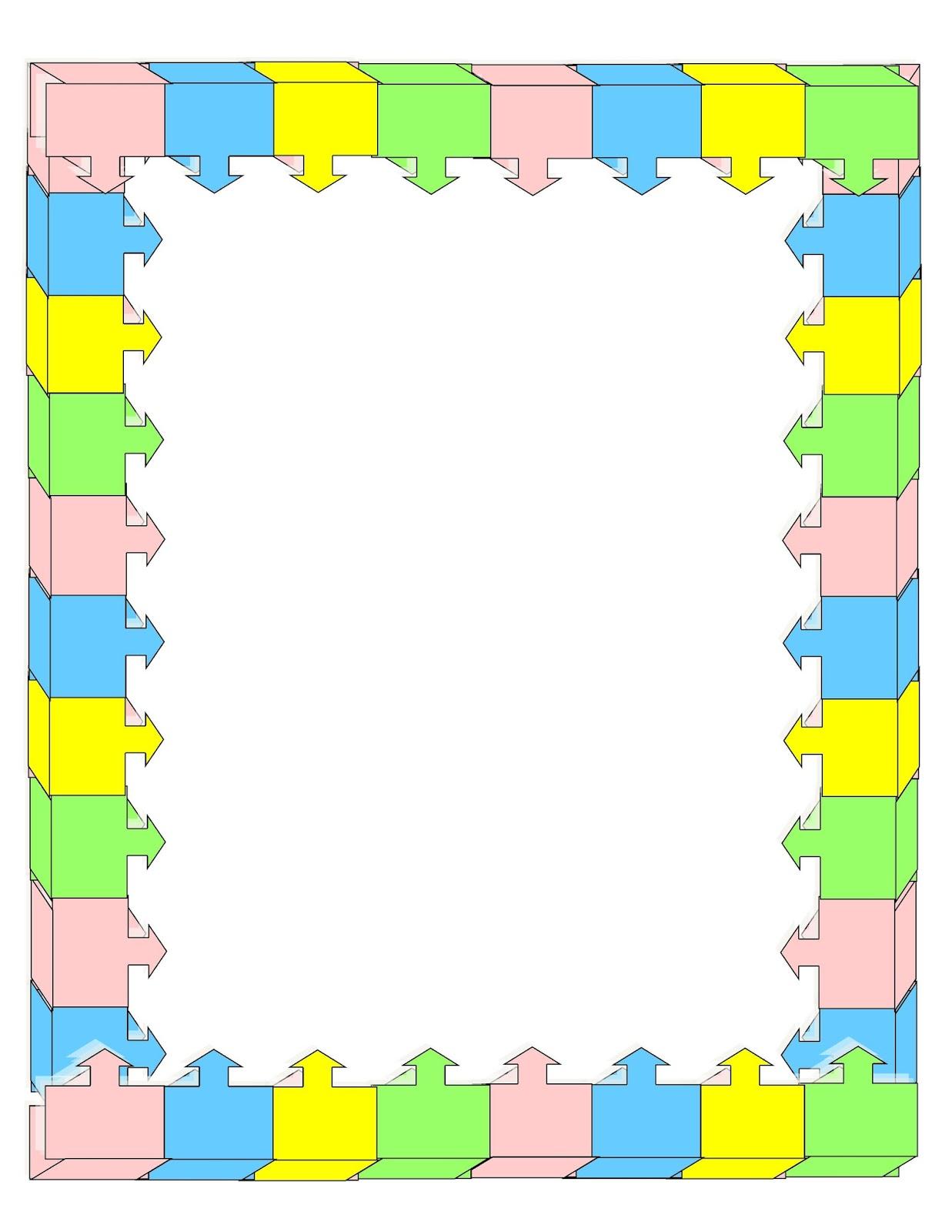 1237x1600 Math Page Borders