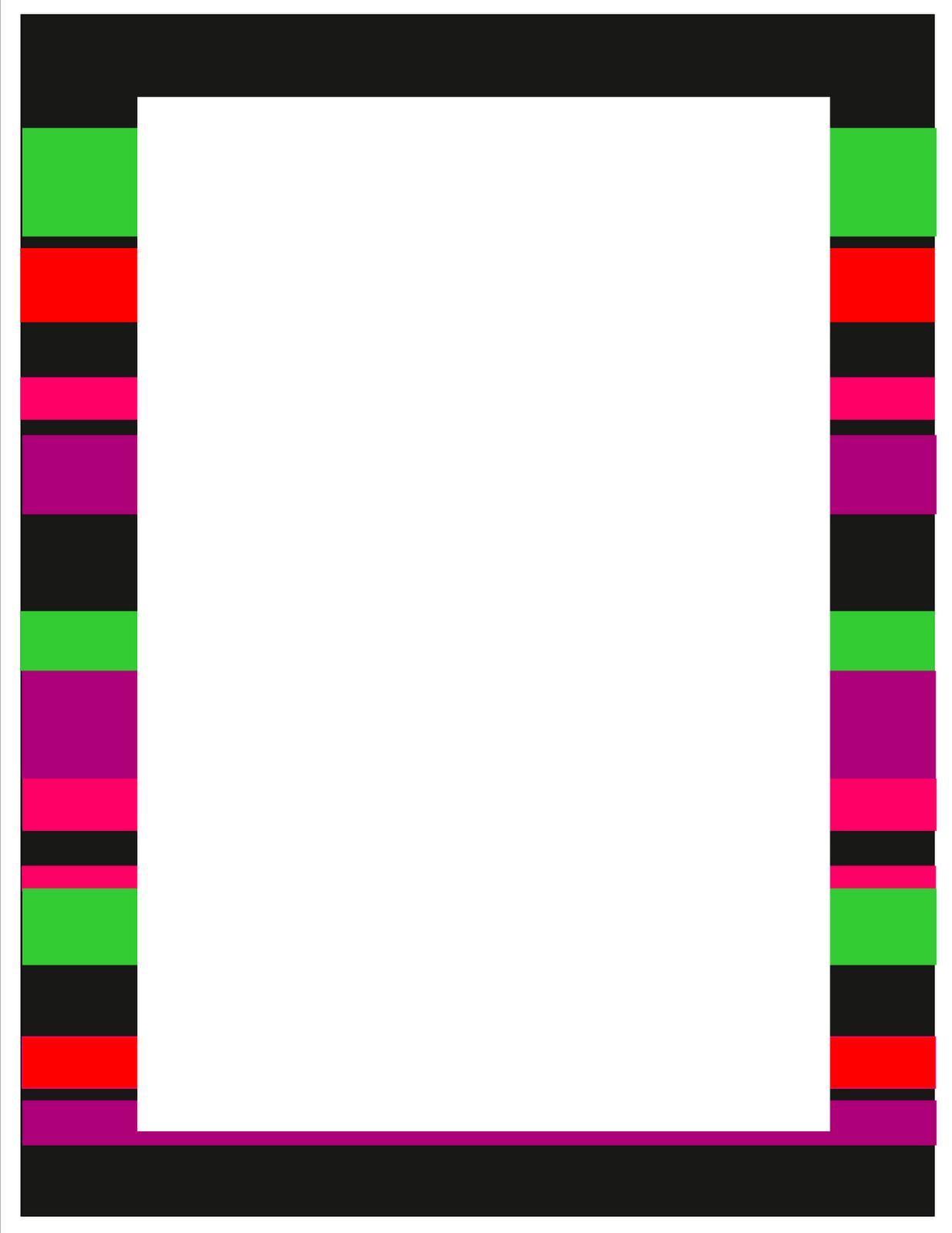 1236x1600 Math Page Borders