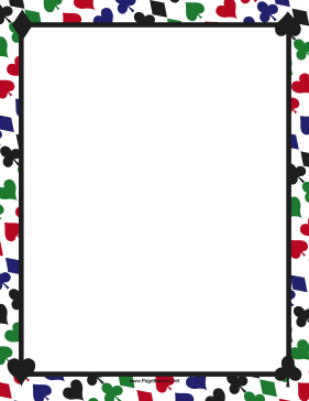 281x364 Printable Playing Card Border. Use The Border In Microsoft Word