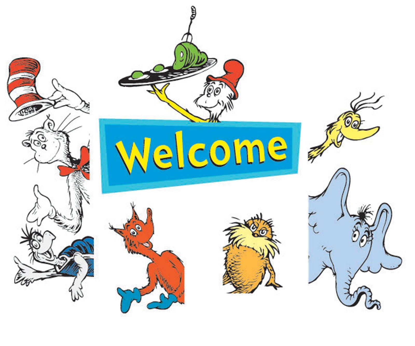 1600x1336 Dr. Seuss Welcome Go Arounds Door Border
