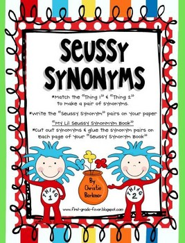 267x350 Ready For Some Seussy Synonym Fun! Help Thing 1 Amp Thing 2