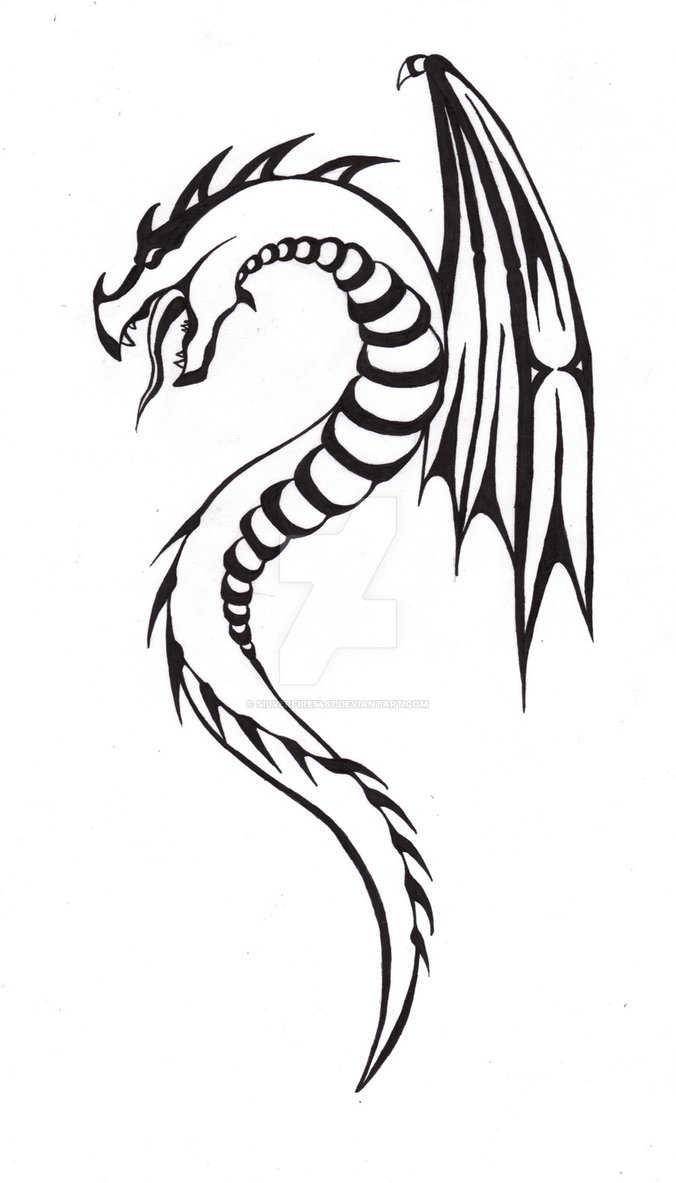 676x1183 Snake Dragon Tattoo By Silverfire5467