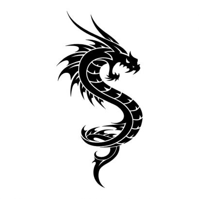 410x410 Tribal Dragon Pic Of Tattoos Tattoo From Itattooz