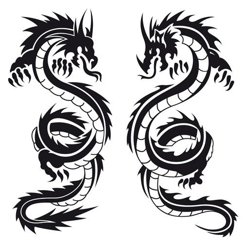 500x504 Dragon Tattoo Design